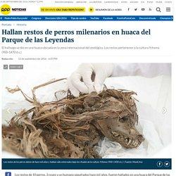 Hallan restos de perros milenarios en huaca del Parque de las Leyendas