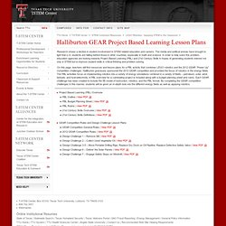 Halliburton GEAR Project Based Learning Lesson Plans
