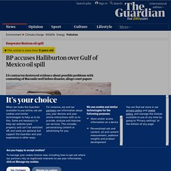 BP accuses Halliburton over Gulf of Mexico oil spill | Environment