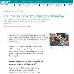 Hallmarks of a good technical leader