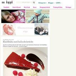 Kladdkaka med hallonkolatäcke - Filurmammans blogg