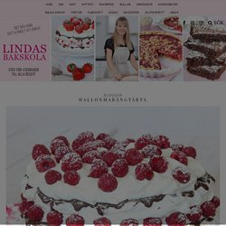 Hallonmarängtårta – Lindas Bakskola