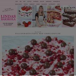 Hallonmarängtårta med chokladkulor – Lindas Bakskola