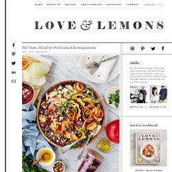 Fall Farro Salad w/ Halloumi & Pomegranates Recipe