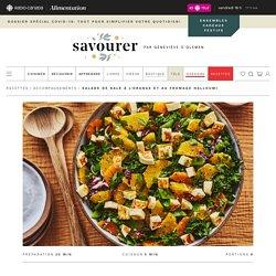 Salade de kale à l'orange et au fromage halloumi – Savourer par Geneviève O'Gleman