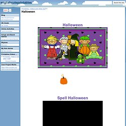 Halloween - englishcuteprintables