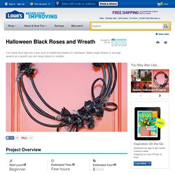 Halloween Black Roses and Wreath