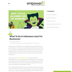 What To Do In Halloween 2020 For Businesses