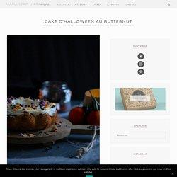 Cake d'Halloween au butternut