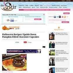 Halloween Recipes: Upside-Down Pumpkin-Filled Chocolate Cupcakes