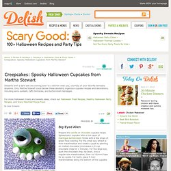Halloween Cupcakes - Spooky Martha Stewart Halloween Cupcake Ideas
