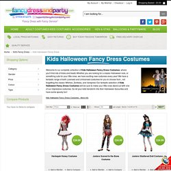Kids Halloween Fancy Dress Costumes at Fancy Dress and Party
