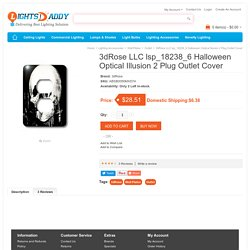 Buy online Latest 3dRose LLC lsp_18238_6 Halloween Optical Illusion 2 Plug Outlet Cover on lightsdaddy.com