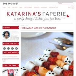Halloween Ghost Fruit Kabobs - KATARINA'S PAPERIE