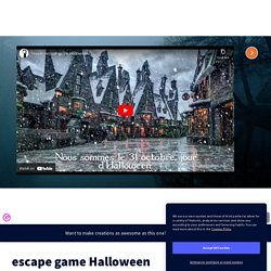 escape game Halloween par Mallory Monhard sur Genially