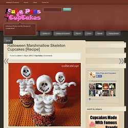 Halloween Marshmallow and White Chocolate Pretzel Skeletons | Cake Pops and Cup Cakes