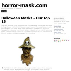 Halloween Masks – Our Top 15