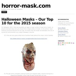 Halloween Masks – Our Top 10 for the 2015 season