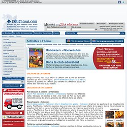 L'halloween 2013 - Nouveautés, activités pour enfants.
