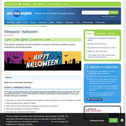 Webquest: Halloween