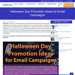 Halloween Day Promotion Ideas for Email Campaigns