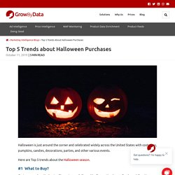 Top 5 Trends about Halloween Purchases - GrowByData