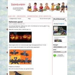 Halloween pyssel - Inspiration till barn