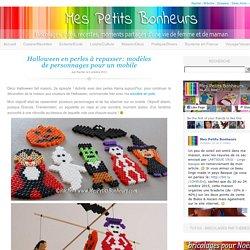 Halloween en perles à repasser: modèles de personnages pour un mobile