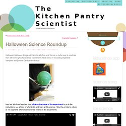 Halloween Science for Kids of All Ages « The Kitchen Pantry Scientist