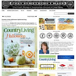 Country Living Halloween Spiderweb Rug
