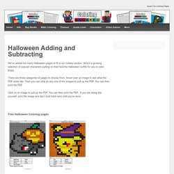 Halloween Adding and Subtracting - Coloring Squared