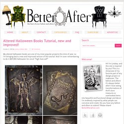Altered Halloween Books Tutorial, new and improved! - Better After