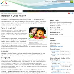 Halloween in United Kingdom