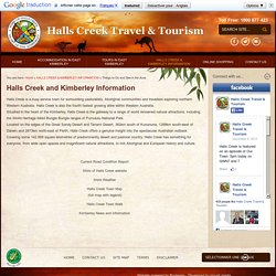 Halls Creek Travel & Tourism - Things to Do and See in the Area