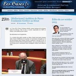 Hallucinant] Audition de Pierre Condamin-Gerbier au Sénat