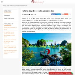Halong bay: Descending dragon bay