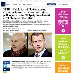 """STTK:n Palola torjui Ykkösaamussa Orpon esityksen maahanmuuttajien palkkajoustoista: """"Halpatyömarkkinat eivät ole kenenkään etu"""" - Antti Palola - Politiikka"""