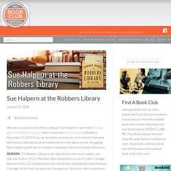 Sue Halpern at the Robbers Library