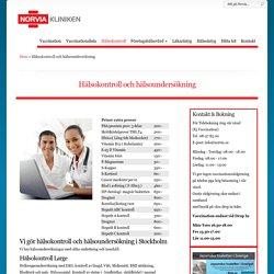 Vi utför hälsokontroll & hälsoundersökning i Stockholm