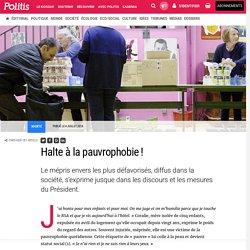 Halte à la pauvrophobie ! par Marie Pouzadoux