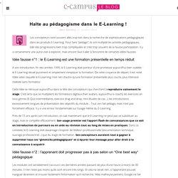 Halte au pédagogisme dans le E-Learning !