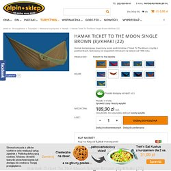 Hamak Ticket To The Moon Single Brown (8)/Khaki (22)