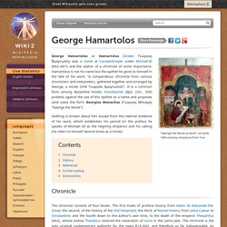 George Hamartolos - WIKI 2. Wikipedia Republished