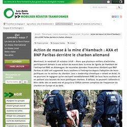 Action de masse à la mine d'Hambach : AXA et BNP Paribas derrière le charbon allemand