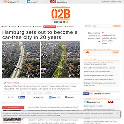 Hamburg sets out to become a car-free city in 20 years