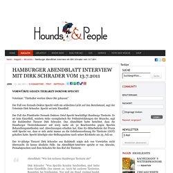 Hamburger Abendblatt Interview mit Dirk Schrader vom 13.7.2011