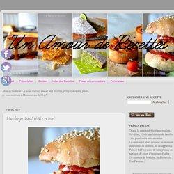 Hamburger bœuf, chèvre et miel