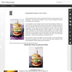 1001 Recettes: Hamburger maison, c'est si bon !