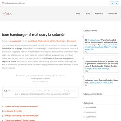 Icon hamburger el mal uso y la solución - Principios Diseño UX