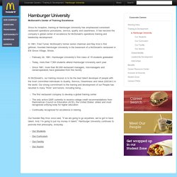 Hamburger University - McDonalds